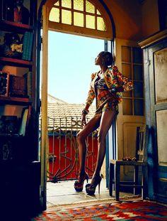 Ana Bela Santos photographed by Fabio Bartelt for Elle Brasil 2013