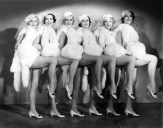 Great Chorus girl clips of dances from the late 1800's - 1950's.