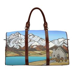 Lake Tekapo Waterproof Travel Bag/Small (Model 1639)