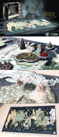 Pedazo de #Puzzle en #4D de Juegos de Tronos, mapa de Poniente - Amazing Game of Throne's 4D Puzzle! #Regalos #Frikis #Geek #Gifts #GameofThrones #JuegodeTronos