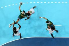 The tenth day of the London Olympics. Women's Handball, August 5th, Under Pressure, Olympic Games, Ny Times, Olympics, Brazil, Basketball Court, London England