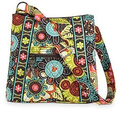 Disney Mickey's Perfect Petals Hipster Bag by Vera Bradley | Disney StoreMickey's Perfect Petals Hipster Bag by Vera Bradley - Carry a smile wherever you go along with Vera's happy ''Hipster'' bag featuring spring-fresh Mickey design. A favorite crossbody style, this hands-free essential features an adjustable shoulder strap and plenty of perfectly placed pockets.