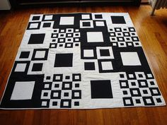 Terrific graphics! I really like this. black and white color combo...one of my favorites. (photo only) #quilting
