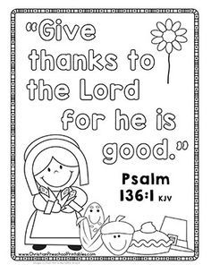 Thanksgiving Bible Printables & Crafts - Christian Preschool Printables Thanksgiving crafts and printables to enhance your, Sunday School Activities, Sunday School Crafts, Bible School Crafts, Thanksgiving Sunday School Lessons, Bible Verse Crafts, Bible For Kids, Kids Church, To Color, Preschool Bible Lessons