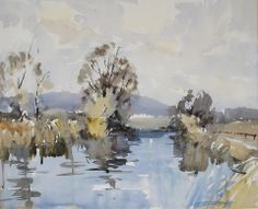 Edward Wesson (1910 — 1983, UK) River scene. watercolour. 47 x 57 cm. (18½ x 22½ in.)