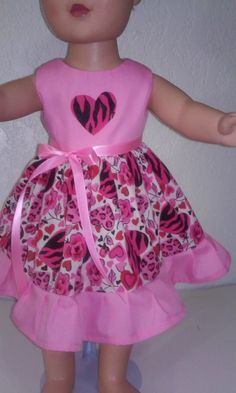 American Girl Dolls Dresses-Handmade-Loving Hearts by GRAMMASTORE