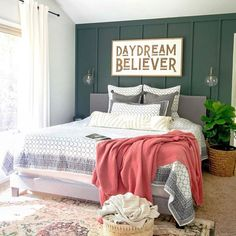 How to style your boho master bedroom. Modern farmhouse home decor inspiration. How to style your boho master bedroom. Modern farmhouse home decor inspiration. Farmhouse Style Bedrooms, Farmhouse Wall Art, Farmhouse Bedroom Decor, Modern Farmhouse, Master Bedroom Design, Bedroom Wall, Bedroom Modern, Bedroom Ideas, Fall Bedroom