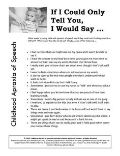If only I could tell you I would say.. Repinned by Apraxia Kids Learning. Come join us on Facebook at Apraxia Kids Learning Activities and Support- Parent Led Group.