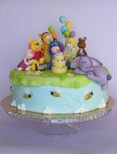 Winnie The Pooh cake by bubolinkata, via Flickr