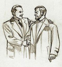 Blake y Mortimer: Bocetos - W. Illustration, Vintage Comics, Art Projects, Animation, Male Sketch, Art, Figurative Art