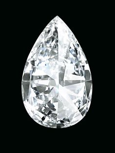 A SPECTACULAR AND HIGHLY IMPORTANT DIAMOND. Now 'THE WINSTON LEGACY'. The pear-shaped diamond weighing approximately 101.73 carats, in black leather fitted case and box. Price Realized $26,746,541 // Estimate on request. GIA / D colour, Flawless clarity, with Excellent Polish and Excellent Symmetry. Type IIa Diamond [C. MAGNIFICENT JEWELS - 15 May 2013 - Geneva] #Christie's #Auction #Diamond #D/Flawless #WINSTON LEGACY #GolcondaType #IIa