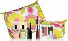 Clinique New! Spring 2012 Gift Set with 7 Daily Essentials :Dramatically Different Moisturizing Lotion, Moisture Surge Extended Thirst Relief, Dual-ended Different Lipstick and Long Last Glosswear SPF 15, High Impact Mascara, Square Compact: Colour Surge Eye Shadow Trio and Soft-pressed Powder Blusher, 2 Applicators and Two Cosmetics Bag by Clipique. $25.96. Dramatically Different Moisturizing Lotion, Moisture Surge Extended Thirst Relief, Dual-ended Different Lipstick and Long L...