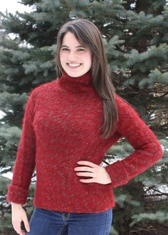 Julia Hand Knit Suri Alpaca Sweater