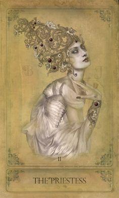 The Sepia Stains Tarot   The Priestess