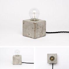 Portfolio of swedish Freelance Art Director Henrik Karlsson. Concrete Light, Concrete Cement, Concrete Crafts, Concrete Projects, Concrete Design, Interior Lighting, Home Lighting, Modern Lighting, Lighting Design