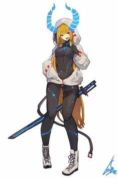 Anime girls - Rush Tutorial and Ideas Fantasy Character Design, Character Design Inspiration, Character Concept, Character Art, Sucubus Anime, Art Anime, Fantasy Characters, Female Characters, Anime Characters
