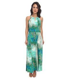 Calvin Klein Calvin Klein  Keyhole Knit Maxi Dress Grass Multi Womens Dress for 97.99 at Im in!