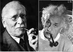 Carl Jung and Albert Einstein.  Pipe Smokers of the world unite!!!