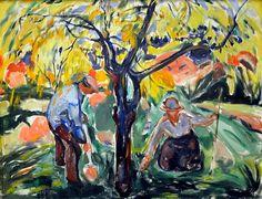 Edvard+Munch+1921+-+Apple+Tree,+1921.jpg (500×382)