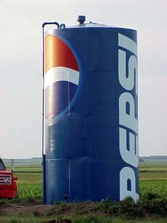 Pepsi Tank.....I need one of these in my yard with a giant straw...lol