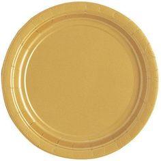 """7"""" Gold Paper Plates, 20pk - Walmart.com"""