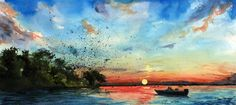 landscapes paintings in watercolors - Google Search