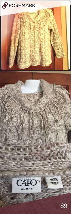 Cato cowl neck sweater Beautiful cowl neck sweater. Like new condition. Cato Sweaters Cowl & Turtlenecks