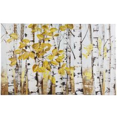 Stand of Birch Trees Art - This looks fairly interesting to try to paint a version of. Would look good in my living room too.