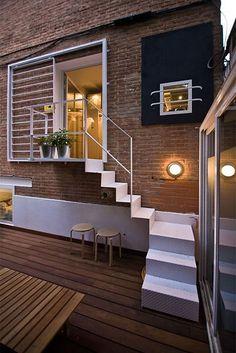Bent metal stairs