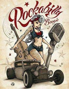 pin up rockabilly dibujo - Buscar con Google