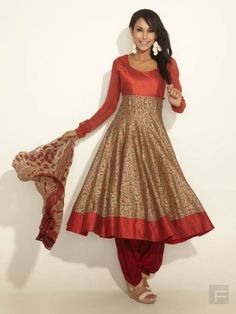 Luxurious Paneled Anarkali Suit With Floral Print