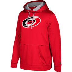 adidas Men s Carolina Hurricanes Red Performance Pullover Hoodie 97f2371be