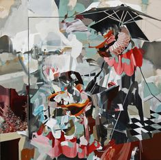 "Saatchi Online Artist: Benjamin Cohen; Oil, 2012, Painting ""'Study of an Interior/Exterior with Duck' 2012"""