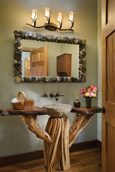Cabin Bathroom...a different bottom but love the concept!!!