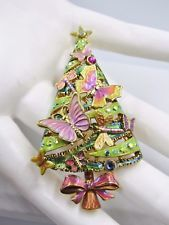 RETIRED KIRKS FOLLY BUTTERFLY & DRAGONFLY CHRISTMAS TREE BROOCH PIN ENHANCER