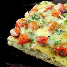 Tomato, Herb and Blue Cheese Pizza