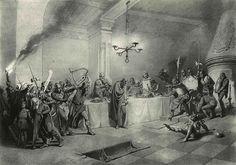 Zichy Mihály: Illusztráció A walesi bárdokhoz Painting, Painting Art, Paintings, Painted Canvas, Drawings