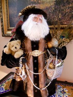 The Santamaker's Collection Father Christmas, Santa Christmas, Handmade Christmas, Christmas Ornaments, Christmas Vignette, Christmas Chandelier, Christmas Mantles, Christmas Villages, Christmas Ideas