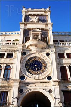 Image detail for -Image of Famous Clock Tower at St. Mark's Square. Venice, Italy