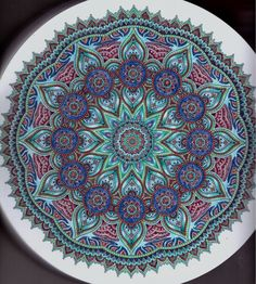 #mandalacoloringbook, 100 Nieuwe creaties mandala colored by Blahona