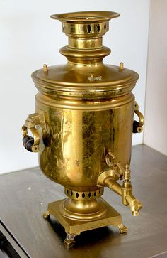 Samovar from Alla Wolf-Tasker's home. Photo: Michael Rayner