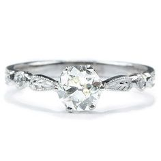 Transitional Diamond Solitaire Ring