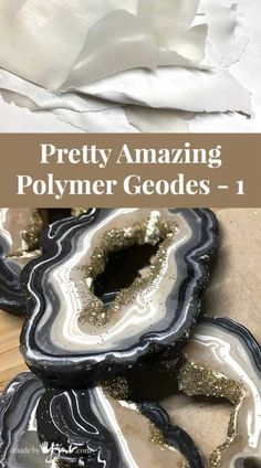 Pretty Amazing Polymer Geodes - madebybarb - make clay geodes agate - Polymer Clay - FIMO 3 - Polymer Clay Kunst, Polymer Clay Canes, Fimo Clay, Polymer Clay Projects, Polymer Clay Creations, Resin Crafts, Polymer Clay Earrings, Polymer Clay Tutorials, Sharpie Crafts