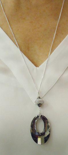 Pendentif en cristal Swarovski Helios sur chaine par BestBuyDesigns