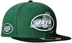 NFL New York Jets Mens New Era State Flective Redux 59FIFTY Fitted Cap Green 7 18 * Click image for more details.