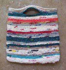 Make this Recycled Tote Bag large enough and it makes a great beach bag for wet towels/suits, etc.
