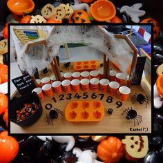 "A few spooky activities to enjoy in the Early Years classroom - from Rachel ("",) Halloween Week, Halloween Math, Halloween Spider, Halloween Activities, Holiday Activities, Halloween Themes, Halloween Crafts, Eyfs Activities, Spring Activities"