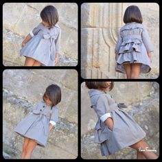 Vintage Kids Clothes, Sewing Kids Clothes, Little Girl Fashion, Kids Fashion, Fashion 2018, Little Girl Dresses, Girls Dresses, Baby Dress Patterns, Cute Girl Photo