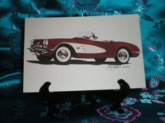 1950's Corvette 4x6 print by Artboulevard on Etsy