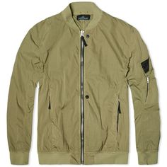 Stone Island Shadow Project Garment Dyed Hollow Nylon Twill Bomber (Olive)
